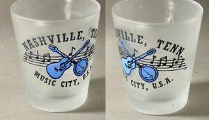 Nashville Tennessee Music City USA Shot Glass #6338