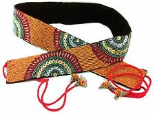 Belly Dancer Beaded Sequin Belt Orange 82cm Adjustable Gypsy Festival Cosplay