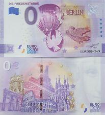 0 Euro Schein Friedenstaube Berlin - Souvenir Null € Sammler-Banknote