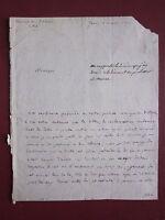 Merlin de Douai 1790 lettre autographe signée