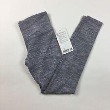 NEW Ivivva Rythmic Tight Leggings Girl's 12 Large Gray Pink Full Length Luon FF8