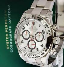 Rolex Daytona 18k White Gold Chronograph Watch Box/Papers 2017 116509