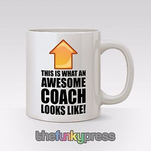 Awesome Coach Football Gymnastics Netball Mug Cup Tea Coffee Gift Slogan