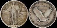 1920 S Standing Liberty Silver Quarter US Type Coin Type 2 San Francisco SLQ