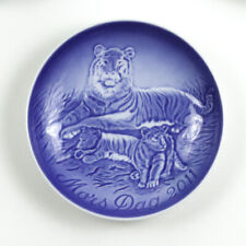 Bing & Grondahl 2011 Mother's Day Collectors Plate, Mors Dag, Tiger with Cubs