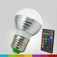 Wireless LED Light Bulb RGB E27 3W Lamp Remote 16 Colors Change US