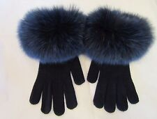 GUANTI PELLICCIA VOLPE fox fur wool gloves Pelzhandschuhen gants laine fourrure