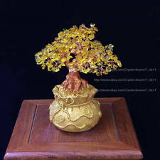 AAA+ Lucky Tree!!! Natural Pretty Citrine Yellow Crystal Gem Tree (S#)