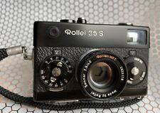 Black Rollei 35 S EX++ Condition Fully Functional CLA'd W/ Wrist Strap
