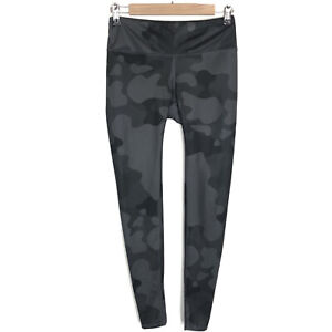 Alo Yoga Leggings Camo Vapor Black Gray Camouflage Size Medium Activewear