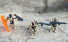 Halo Mega Bloks Set #CNK25 UNSC Fireteam Rhino Aviator Figure #1, 3, & 4