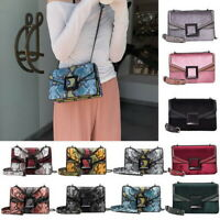 Womens Snake Skin Print Style Purse Shoulder Bag Lady CrossBody Handbag Satchel