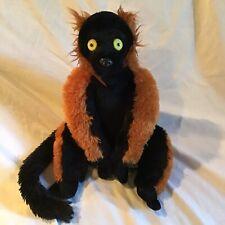 "WILD REPUBLIC Red Ruffed Lemur 12"" Very Soft Super Long Tail Plush Animal *EUC*"