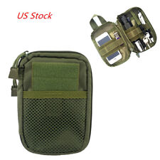 Tactical Molle Bag Edc Storage Pouch Sports Hunting Pack Belt Bag Outdoor Green