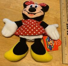 "Disney Minnie Mouse Bean Bag Plush Toy-Applause #33845-7"" with Tags-Vintage 1995"