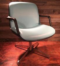 Blue Vintage Steelcase Industrial Tanker Desk Mid Century Retro Chair ~ Unique