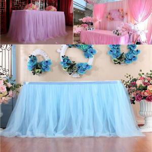 1pc Table Skirt Cover Birthday Wedding Festive Party Decor Table Cloth ~!~