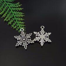 29PCS Antique Silver Tone Alloy Snowflake Charms Pendant 25*20*2mm 39417