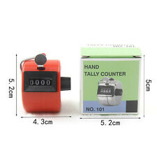 Digital Hand Held Tally Clicker Counter 4 Digit Number Clicker Golf Chrome BH