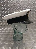 Genuine British Royal Navy PO Petty Officer Peaked Dress Cap Size 60cm Faulty