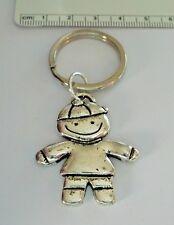 Pewter 39x32mm Boy Son Grandson Male Child Keychain 27mm Keyring