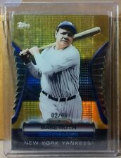 2012 TOPPS GOLDEN MOMENTS  #GMDC1 BABE RUTH NY YANKEES 02/99 GOLD DIE CUT