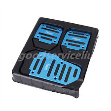 3X Blue Brake Clutch Accelerator Car Pedal Cover Non Slip Manual Transmission