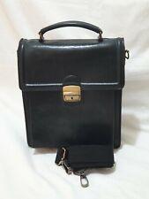 Vintage black  leather Handbag Man bag /shoulder /cross body bag  Mens Ladies