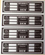 Typenschilder/Typschilder DKW AUTO UNION