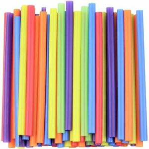 """Jumbo Smoothie Straws - 8.5"""" High - Assorted Colors [100 Count]"""