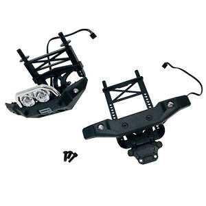 Traxxas Summit 1/16 Front & Rear Bumpers - Body Mounts - Posts - Led Lights New