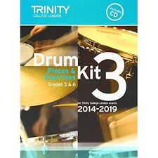 Drum Kit 2014-2019 Book 3 Grades 5 & 6 by Trinity College London BOOK & CD