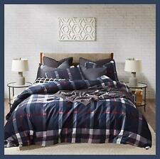 Karever Navy and Red Plaid Comforter Set Queen (90''x90'')