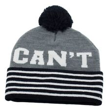 6822527abed Men s Women s UNDEFEATED Can t Lose Pom Pom Beanie Grey Winter Hat ...