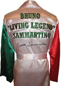 Bruno Sammartino Autographed Signed Italian Wrestling Robe ASI Proof