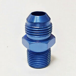 "8 AN X 3/8"" NPT Straight Fitting Adapter Fragola 481608  Blue Aluminum"