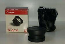 Canon tele-ConverterTC-DC58 1.5X New open Box Powershot G1, G2