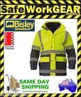 Bisley 5 In 1 Yellow Navy Hi Vis Waterproof Jacket Reflective Tape Rain Coat