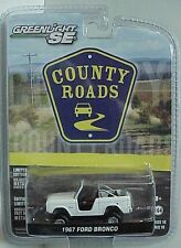 County Road # 10 Greenlight 1967 Ford Bronco white with open roll bar area