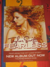 TAYLOR SWIFT - FEARLESS -  LAMINATED PROMO COUNTER POSTER