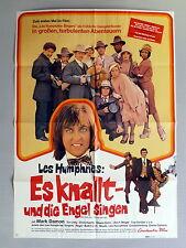 """A1-Filmposter * LES HUMPHRIES SINGERS - """"Es knallt und die Engel singen"""" 1974"""