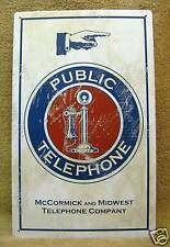 Public Telephone Company McCormick Midwest Phone Tin Metal Sign
