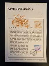FRANCE MUSEE POSTAL FDC 17-77   FLORALIES INTERNATIONALES   1,40F   NANTES  1977