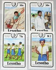 LESOTHO 1985 531-34 487-490 Intl. Your Year Girl Guides Scouts Climbing MNH