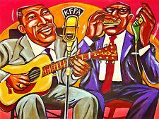 SONNY TERRY BROWNIE MCGHEE PRINT poster guitar harp whoopin cd new york blues