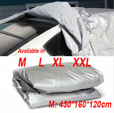 4 Size M L XL XXL Full Car Cover Silver Anti UV Heat Protection Waterproof M