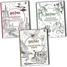 Harry Potter,Harry Potter Magical Creatures and Magical Places Colouring 3 Books