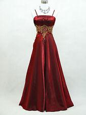 Cherlone Übergröße Rot Ballkleid Brautkleid Abendkleid Brautjungfer Kleid 46