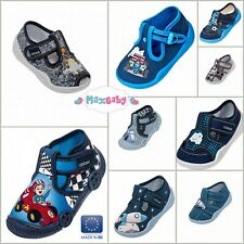 Shoes for Boys Infant Spring Summer Slippers Kids Canvas LEATHER Insole Size 3–7