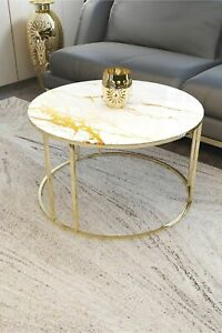 Center Tables Modern Coffee Tables Big Table Marble Patterned Unbreakable Glass